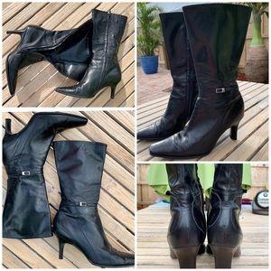 Gianni Bini Black Mid Calf Boots Women's Size 6.5